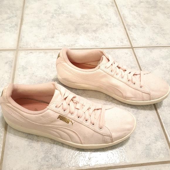 Puma women pink sneakers size 8